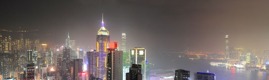 Night Hong Kong Stock Photo