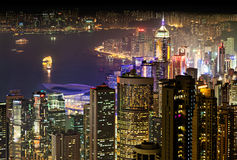 Night in Hong Kong Royalty Free Stock Images