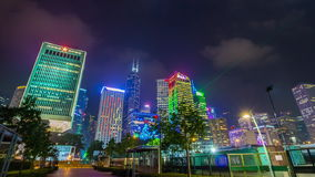 Night hong kong ferry ride and street trafficscape panorama 4k time lapse china. China night hong kong ferry ride and street traffic cityscape panorama 4k time stock video