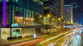 Night hong kong traffic street road bridge panorama 4k time lapse china. China night illumination hong kong traffic street road bridge panorama 4k time lapse stock footage