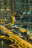 Night hongkong cityscape Royalty Free Stock Images