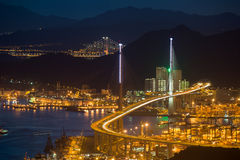 Night hongkong cityscpae Royalty Free Stock Image