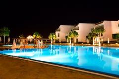 Night Hotel. Egypt Sharm El Sheikh Royalty Free Stock Photography