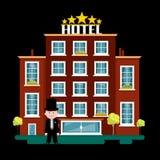 Night Hotel Building Illustration. Night Hotel Building Vector Illustration stock illustration