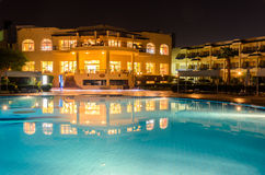 Night hotel in Egypt Stock Photo