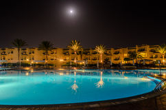 Night hotel in Egypt Stock Images