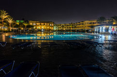 Night hotel in Egypt Stock Photography