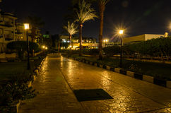 Night hotel in Egypt Royalty Free Stock Photo