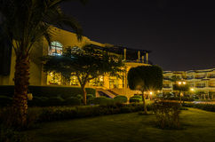 Night hotel in Egypt Royalty Free Stock Photos