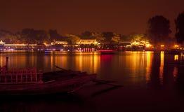 Night houhai beijing china. Night of houhai beijing China stock image