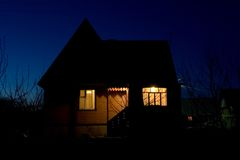 Night house Royalty Free Stock Photography