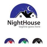 Night House Logo Template Design Vector Stock Photo