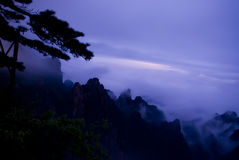 Night of Huanshan mountain in china Royalty Free Stock Photos