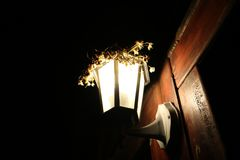 Lampion shines the way to the home !. That night, when I got back from town, I wanted something to photogravure. I could not do much to photograph it since it royalty free stock images