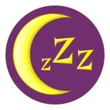 Night icon, cartoon style Stock Photo