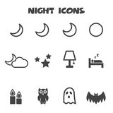 Night icons Royalty Free Stock Photography