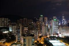 Night illuminated Hong Kong Royalty Free Stock Images
