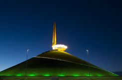 Night illumination of Barrow of Glory, Belarus Royalty Free Stock Image