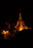 Night  illumination   of Botathaung Pagoda Royalty Free Stock Images