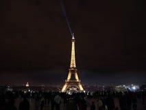 Night illumination of Eiffel Tower, Paris Royalty Free Stock Image