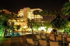 Night illumination of luxury hotel Stock Photography