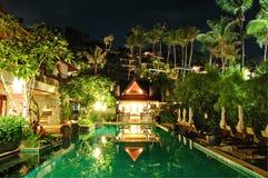 Night illumination at luxury hotel Royalty Free Stock Photos
