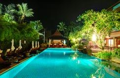 Night illumination at luxury hotel Royalty Free Stock Photo