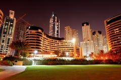 Night illumination of the luxury hotel Royalty Free Stock Images