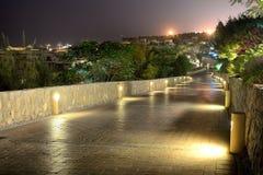Night illumination at luxury hotel Royalty Free Stock Images