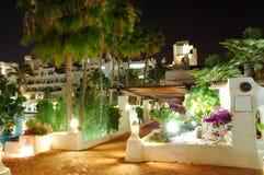 Night illumination of luxury hotel Royalty Free Stock Photos
