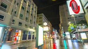 Night illumination milan city torino street walking panorama 4k time lapse italy. Italy night illumination milan city torino street walking panorama 4k time stock video