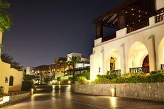 Night illumination of restaurant at luxury hotel Royalty Free Stock Photography