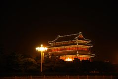 Night illumination of temple Royalty Free Stock Images