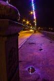 Night illumination On Urban Streets Stock Photos