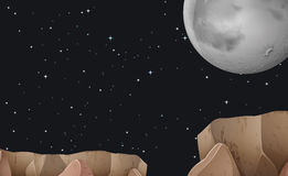 Night. Illustration of a night view Royalty Free Stock Images
