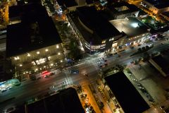 Night image Aerial Lincoln Road Royalty Free Stock Photography