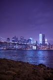 Night image of the Brooklyn Bridge Royalty Free Stock Photo
