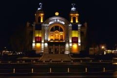 Night image of Cluj-Napoca National Theatre, Romania royalty free stock photo