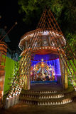 Night image of Durga Puja Pandal, Kolkata, West Bengal, India Stock Photos