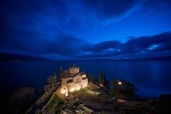 Jovan Kaneo Church at night royalty free stock photography