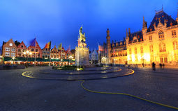 Night image of north side of Market Square. Stock Photography