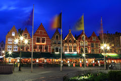 Night image of north side of Market Square. Royalty Free Stock Photography
