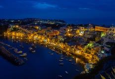 Night image from Procida, Italy. Royalty Free Stock Image