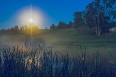 Night ime in Araishi lake. Stock Photo