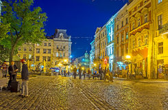 Night In Lvov Stock Image