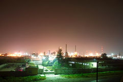 Night-industrial city Royalty Free Stock Photography