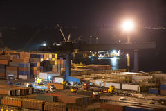 Night industrial port Royalty Free Stock Photos