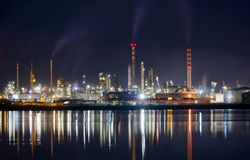 Night industry Royalty Free Stock Photos
