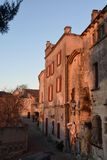 Night inside of the  village of Les Baux de Provence, Stock Photography