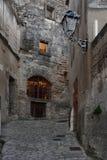 Night inside of the  village of Les Baux de Provence, Stock Photos